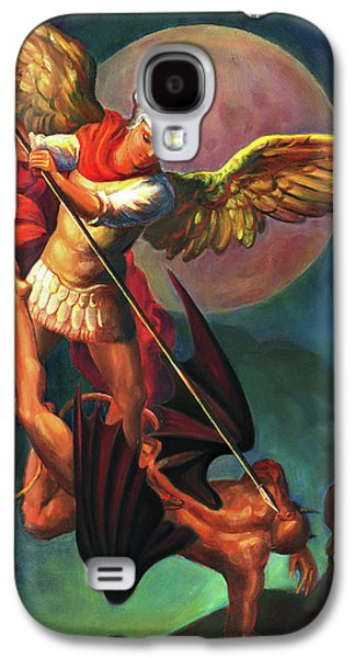Galaxy S4 Case - Saint Michael The Warrior Archangel by Svitozar Nenyuk