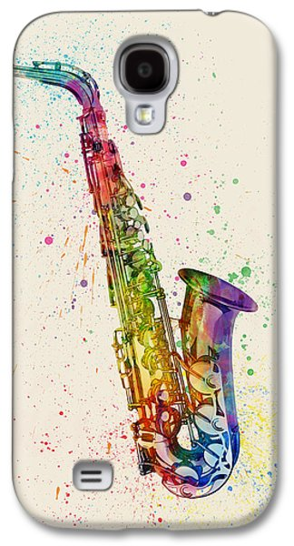 Saxophone Galaxy S4 Case - Saxophone Abstract Watercolor by Michael Tompsett