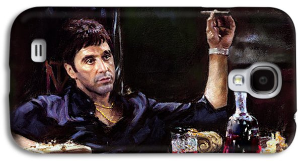 Movies Galaxy S4 Cases - Scarface Galaxy S4 Case by Ylli Haruni