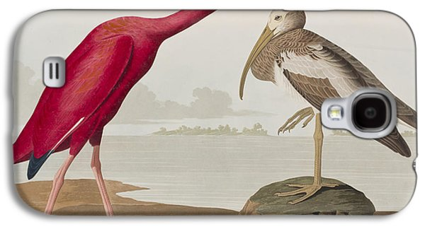 Scarlet Ibis Galaxy S4 Case by John James Audubon