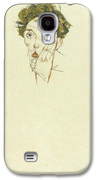 Self Portrait Galaxy S4 Case by Egon Schiele