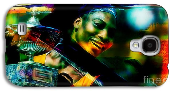 Serena Williams Galaxy S4 Case - Serena Williams by Marvin Blaine