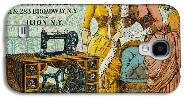 1880s Galaxy S4 Cases - SEWING MACHINE AD, c1880 Galaxy S4 Case by Granger