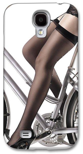 Sexy Woman Riding A Bike Galaxy S4 Case by Oleksiy Maksymenko