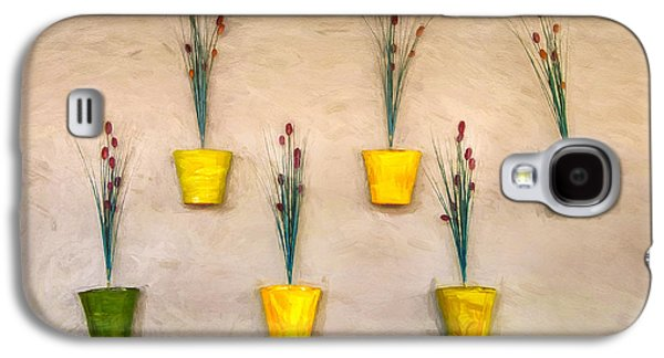 Six Flower Pots On The Wall Galaxy S4 Case