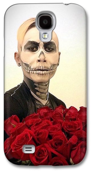 Skull Tux And Roses Galaxy S4 Case by Kent Chua