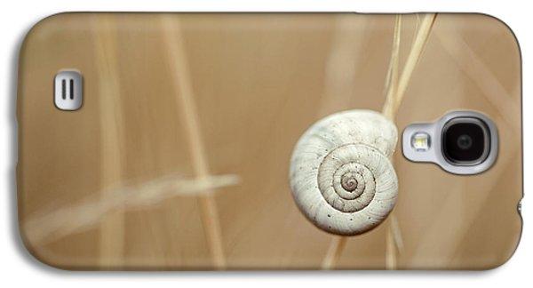 Snail On Autum Grass Blade Galaxy S4 Case by Nailia Schwarz