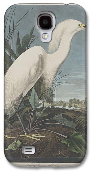Snowy Heron Or White Egret Galaxy S4 Case