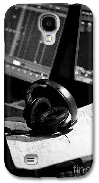 Sound Engineers Headphones On Mixing Desk In A Studio Galaxy S4 Case by Joe Fox
