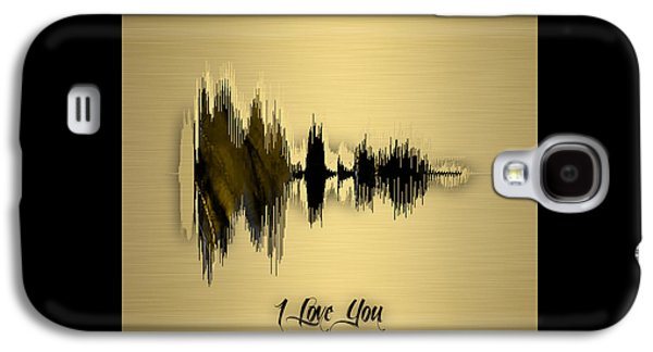 Sound Wave I Love You Galaxy S4 Case by Marvin Blaine