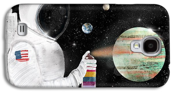 Space Graffiti Galaxy S4 Case by Bri B