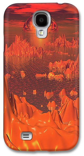 Space Islands Of Orange Galaxy S4 Case
