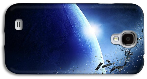 Space Junk Orbiting Earth Galaxy S4 Case