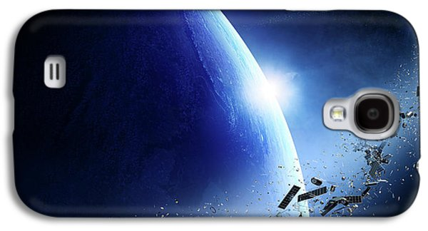 Space Junk Orbiting Earth Galaxy S4 Case by Johan Swanepoel