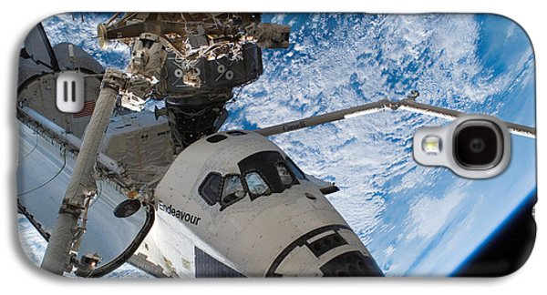 Component Galaxy S4 Cases - Space Shuttle Endeavour, Docked Galaxy S4 Case by Stocktrek Images