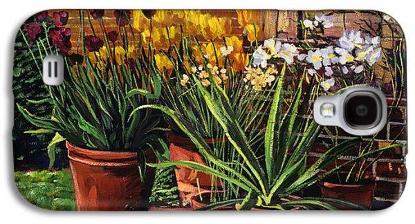 Spring Tulips And White Azaleas Galaxy S4 Case by David Lloyd Glover