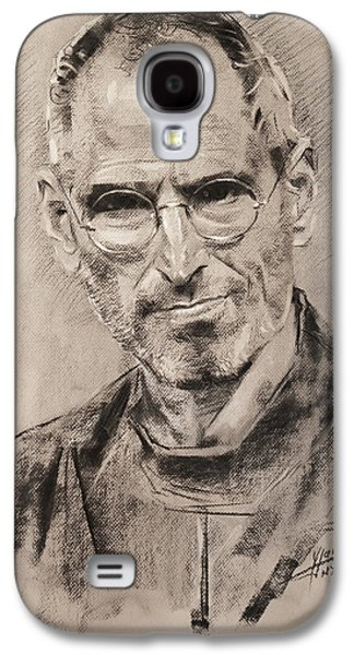 Food And Beverage Pastels Galaxy S4 Cases - Steve Jobs Galaxy S4 Case by Ylli Haruni