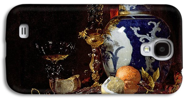Still Life With A Chinese Porcelain Jar Galaxy S4 Case by Willem Kalf