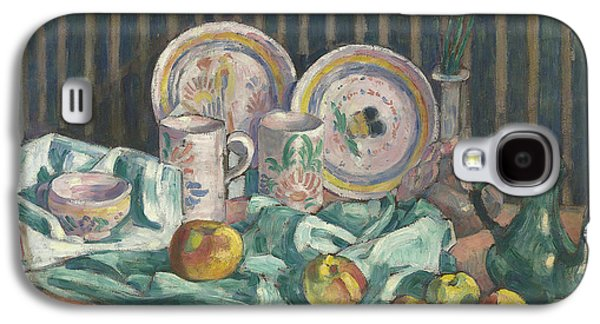 Still Life With Apples And Fruit Bowls Galaxy S4 Case by Emile Bernard