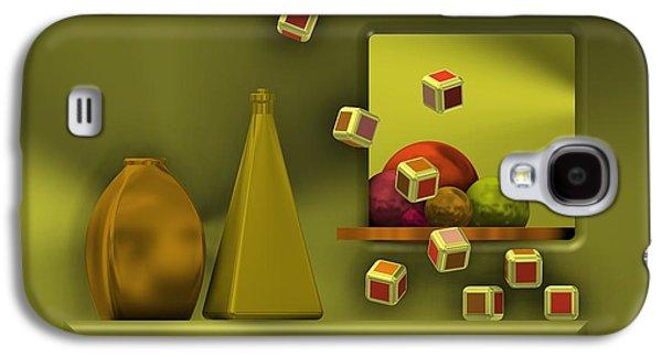 Still Life With Cubes Galaxy S4 Case by Alberto RuiZ