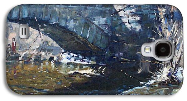 Stone Bridge At Three Sisters Islands Galaxy S4 Case by Ylli Haruni