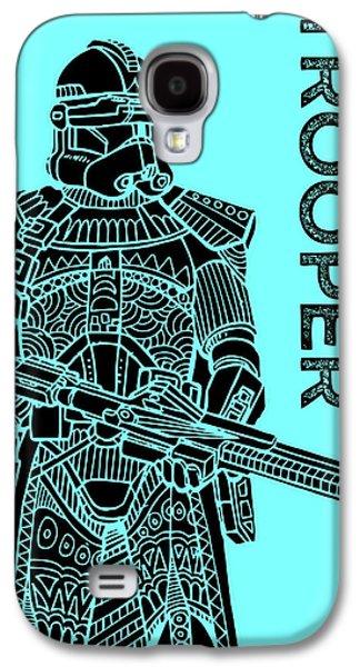 Stormtrooper - Star Wars Art - Blue Galaxy S4 Case