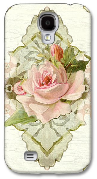 Summer At The Cottage - Vintage Style Damask Roses Galaxy S4 Case