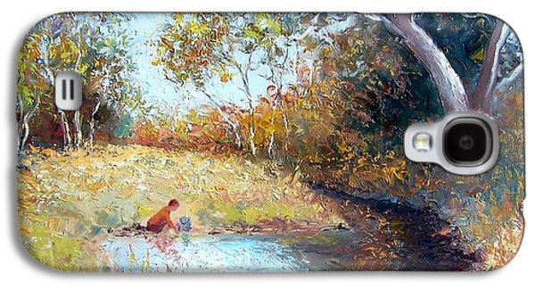 Sunday By The Creek Galaxy S4 Case by Jan Matson