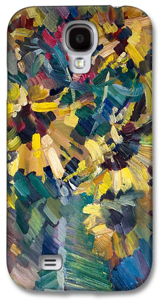Impressionism Galaxy S4 Case - Sunflowers by Nikolay Malafeev