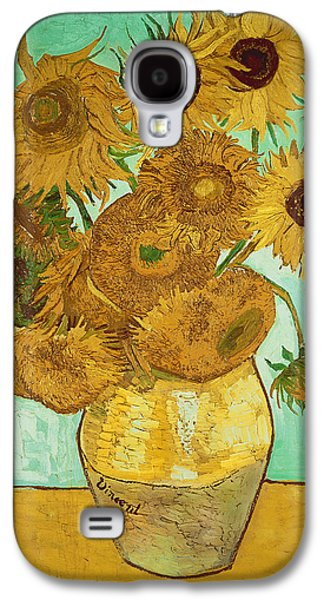 Impressionism Galaxy S4 Case - Sunflowers By Van Gogh by Vincent Van Gogh