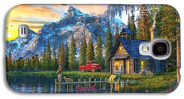 Sunset At Log Cabin Galaxy S4 Case by Dominic Davison