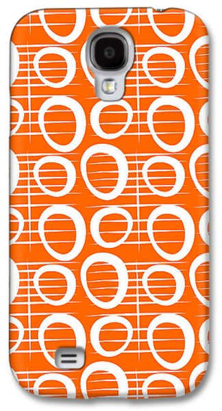Tangerine Loop Galaxy S4 Case by Linda Woods