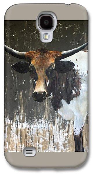 Cow Galaxy S4 Case - Texas Longhorn by Cheryl Green