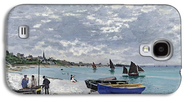 The Beach At Sainte Adresse Galaxy S4 Case by Claude Monet