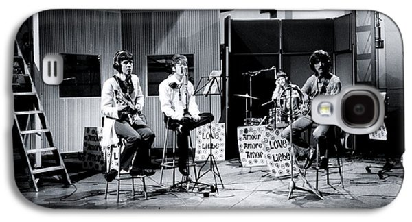 The Beatles At Abbey Road Studios For 'our World' Tv Broadcast Galaxy S4 Case