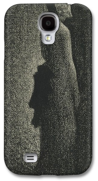 The Black Bow Galaxy S4 Case by Georges-Pierre Seurat