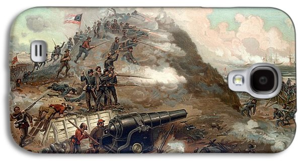 American Mixed Media Galaxy S4 Cases - The Capture Of Fort Fisher Galaxy S4 Case by War Is Hell Store