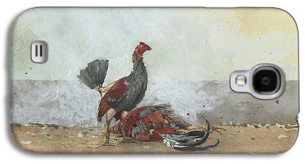 The Cock Fight Galaxy S4 Case by Winslow Homer