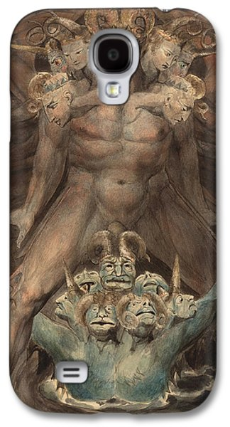The Great Red Dragon And The Beast From The Sea Galaxy S4 Case by William Blake
