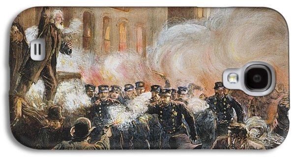 Protesters Galaxy S4 Cases - The Haymarket Riot, 1886 Galaxy S4 Case by Granger