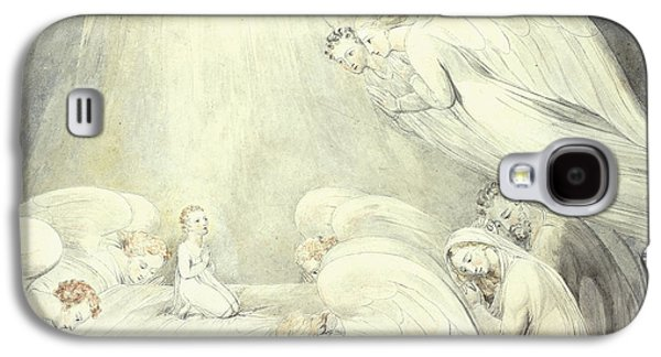 The Infant Jesus Saying His Prayers Galaxy S4 Case by William Blake