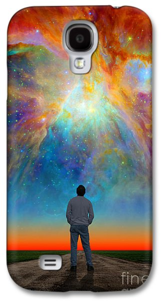 The Orion Nebula Galaxy S4 Case by Larry Landolfi