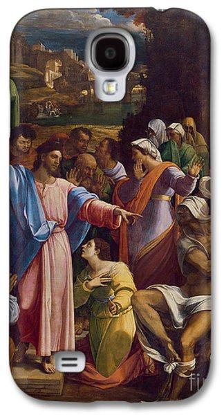 The Raising Of Lazarus Galaxy S4 Case by Sebastiano del Piombo