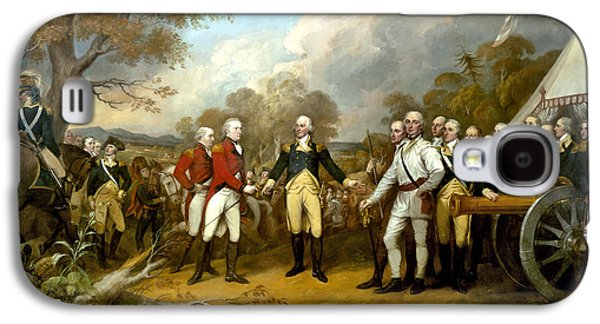 The Surrender Of General Burgoyne Galaxy S4 Case by War Is Hell Store