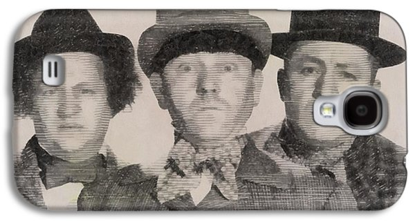 The Three Stooges Hollywood Legends Galaxy S4 Case by John Springfield