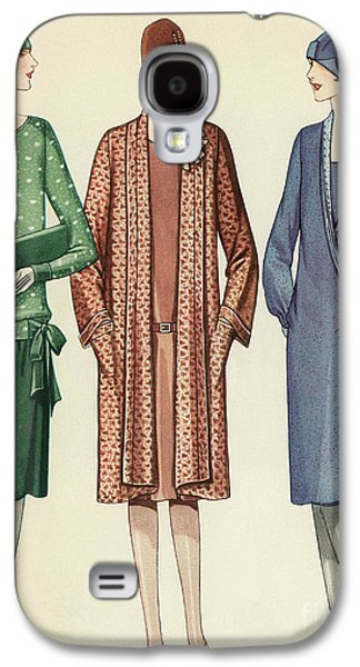 Three Flappers Modelling French Designer Outfits, 1928 Galaxy S4 Case by American School