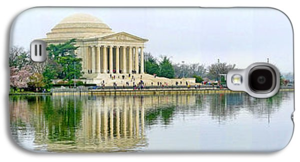 Jefferson Memorial Galaxy S4 Case - Tidal Basin With Cherry Blossoms by Jack Schultz