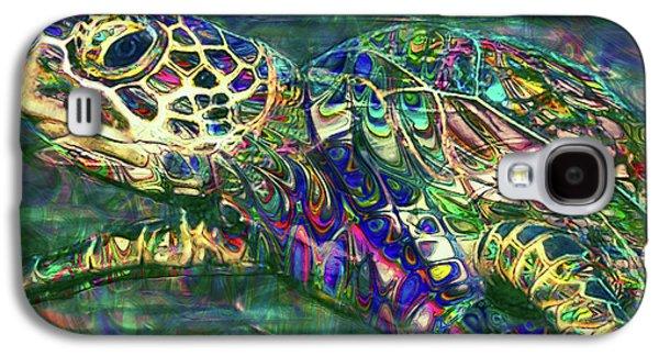Tropical Sea Turtle 2 Galaxy S4 Case by Jack Zulli