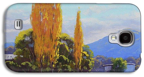 Fall Scenes Galaxy S4 Case - Tumut Autumn Poplars by Graham Gercken