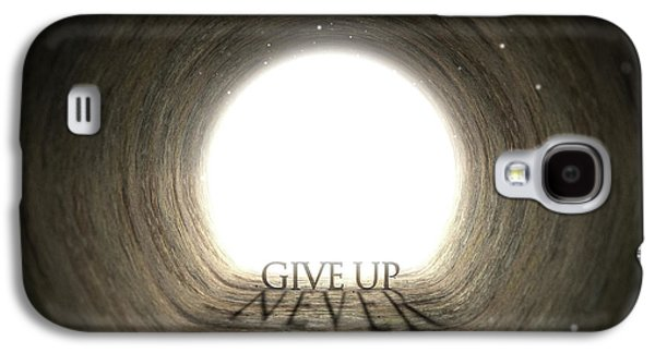 Tunnel Text And Shadow Concept Galaxy S4 Case